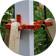 small photo of Cepco Tool Post-Pod holding fence post during installation